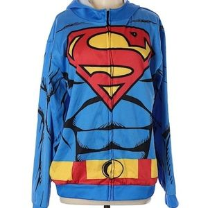 Superman Hoodie Sweater Made by RUBIES COSTUMES
